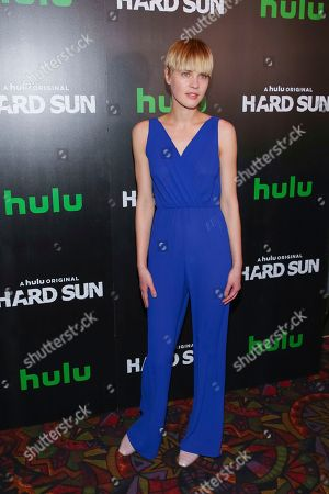 """Stock Picture of Model Kris Gottschalk attends the Hulu original series premiere of """"Hard Sun"""" at Regal Union Square, in New York"""