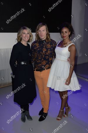 Christophe Guillarme, Karine Lima and Caroline Delage