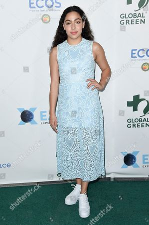 Allegra Acosta attends the 15th Annual Global Green Pre-Oscar Gala at NeueHouse Hollywood, in Los Angeles