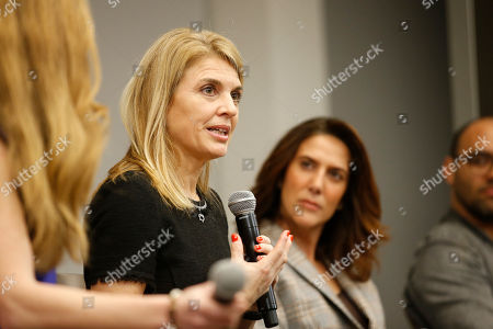 """EXCLUSIVE - Ginny Ehrlich, CEO of Power to Decide, left, and writer/producer Rina Mimoun (Everwood, Mistresses, Dawson's Creek) take part in """"Tuning in for THE TALK - How TV is Approaching Love, Sex, Pregnancy & Birth Control and How Young People Are Responding,"""" a provocative discussion presented by the Television Academy, ATX TV Festival and Power to Decide on at the Television Academy's Saban Media Center in North Hollywood, Calif"""
