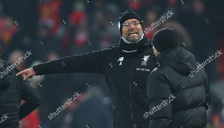 Liverpools manager Jurgen Klopp angry near the end of the match rages at 4th official Neil Swarbrick