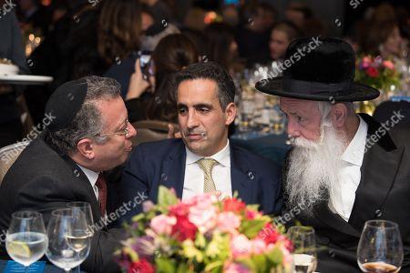 Miguel Abadi, Maurice Benisty and Rabbi Yitzchak Dovid Grossman.