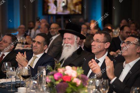 Miguel Abadi, Maurice Benisty, Rabbi Yitzchak Dovid Grossman, Ambassador Mark Regev, Afshin Foulad.