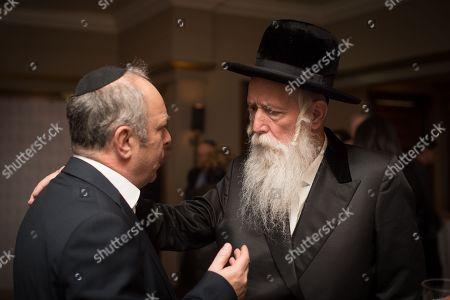 Rabbi Yitzchak Dovid Grossman with guest.