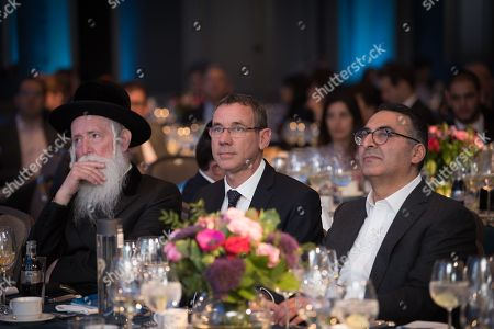 Stock Picture of Rabbi Yitzchak Dovid Grossman, Israeli Ambassador Mark Regev, Afshin Foulad.