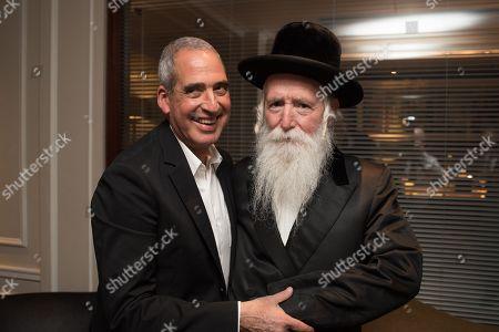 """Avigdor """"Dori"""" Klagsbald with Rabbi Yitzchak Dovid Grossman."""