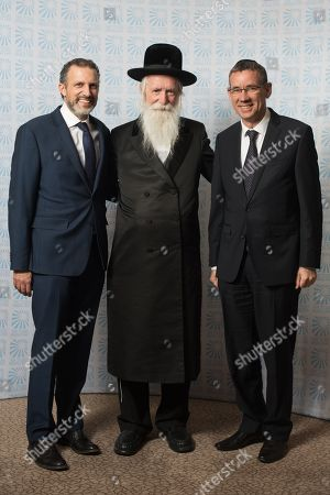 Director of International Gemstones Richard Haruni with Rabbi Yitzchak Dovid Grossman with Israeli Ambassador Mark Regev.