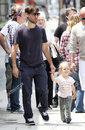 Stock Image of Tobey Maguire with daughter Ruby Sweetheart