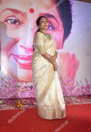 Stock Image of Indian playback singer Asha Bhosle