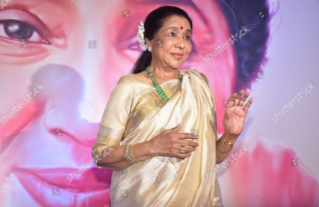 Stock Picture of Indian playback singer Asha Bhosle