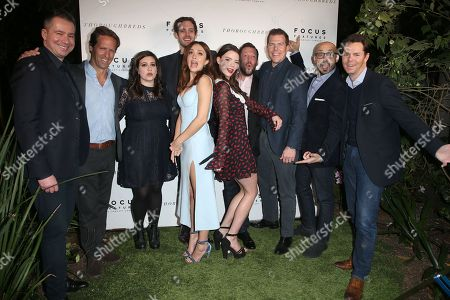 Stock Photo of Nat Faxon, Alex Saks, Olivia Cooke, Cory Finley, Anya Taylor-Joy, Ryan Stowell, Kevin J. Walsh