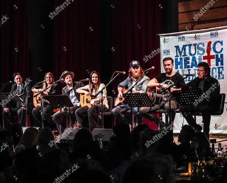 Stock Photo of Peter Cooper, Kelly Archer, KS Rhodes, Natalie Hemby, Brothers Osborne, John Osborne, T.J. Osborne, Mac Davis