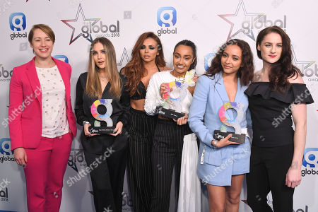 Little Mix - Jesy Nelson, Jade Thirlwall, Perrie Edwards and Leigh-Anne Pinnock - Best Song 'Power', Best Group and Best British Artist or Group, Laura Deas and Lizzy Yarnold
