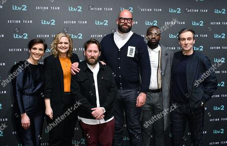 Cast of Action Team - Tom Davis, Jim Howick, Vicky McClure, Laura Checkley, Derek Riddell, Kayode Ewumi