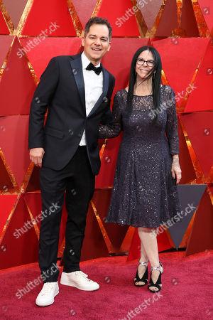 Stock Image of Carlos Saldanha and Lori Forte