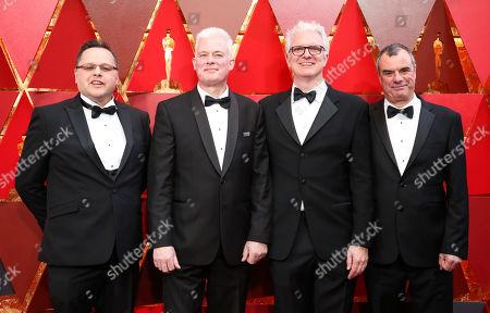 Mike Mulholland, Neal Scanlan, Ben Morris and Chris Corbould