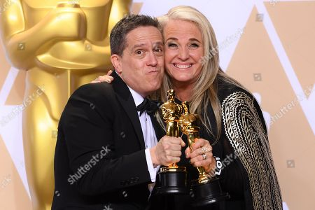 Stock Image of Lee Unkrich and Darla K Anderson - Animated Feature - 'Coco'