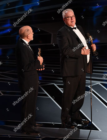 Stock Picture of Alex Gibson and Richard King - Sound Editing - 'Dunkirk'