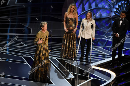 Frances McDormand - Lead Actress - 'Three Billboards Outside Ebbing, Missouri', presented by Jennifer Lawrence and Jodie Foster