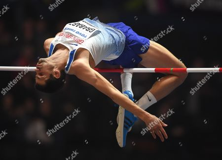 Robbie Grabarz of Great Britain in action during the men's High Jump event of the IAAF Athletics World Indoor Championships at Arena Birmingham, Britain, 01 March 2018.