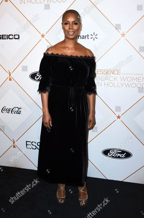 Sidra Smith arrives at the 11th Annual Essence Black Women in Hollywood Awards Luncheon on in Beverly Hills, Calif