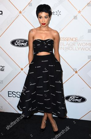 Symphani Soto arrives at the 11th Annual Essence Black Women in Hollywood Awards Luncheon on in Beverly Hills, Calif