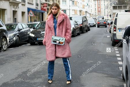 Editorial image of Street Style Fall Winter 2018 Paris Fashion Week France - 01 Mar 2018