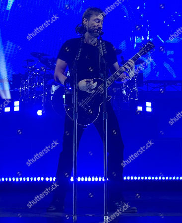 Editorial photo of Nickelback in concert at The Joint Hard Rock Hotel & Casino, Las Vegas, USA - 27 Feb 2018