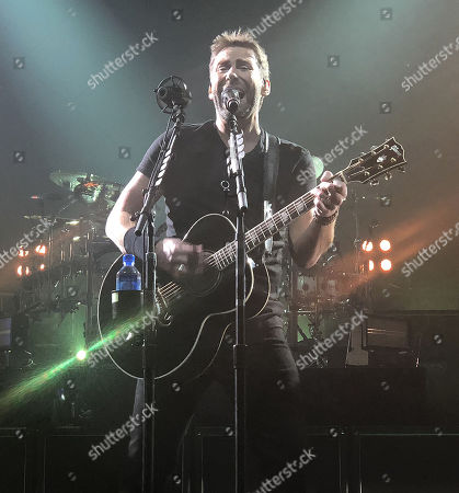 Editorial image of Nickelback in concert at The Joint Hard Rock Hotel & Casino, Las Vegas, USA - 27 Feb 2018