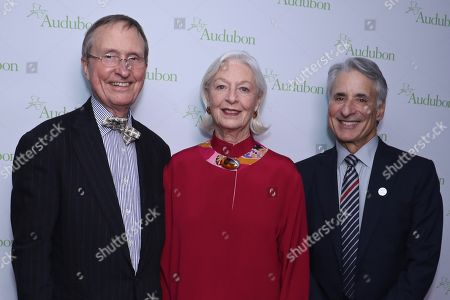 Stock Picture of Thomas Lovejoy, Jane Alexander and David Yarnold, President and CEO of the National Audubon Society
