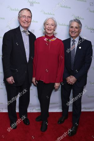 Stock Photo of Thomas Lovejoy, Jane Alexander and David Yarnold, President and CEO of the National Audubon Society