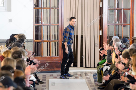 Serge Ruffieux on the catwalk