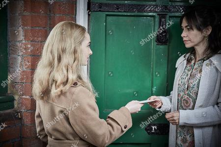 Stock Picture of Dakota Blue Richards as WPC Shirley Trewlove and Caroline Martin as Mrs Kate Ivory.