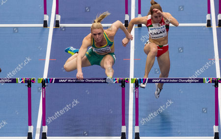 60m Hurdles Semi-Finals. Austrailia's Sally Pearson qualifies