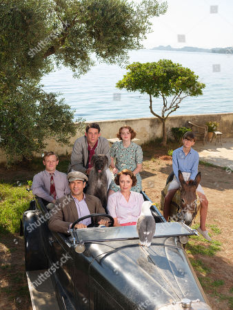 Callum Woodlouse as Leslie Durrell, Josh O'Connor as Larry Durrell, Daisy Waterstone as Margo Durrell, Milo Parker as Gerry Durrell, Alexis Georgoulis as Spiro Hakaiopulos, Keeley Hawes as Louisa Durrell and Roger the Dog.