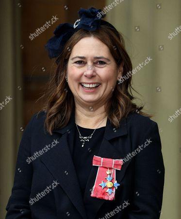 Alexandra Shulman with her CBE