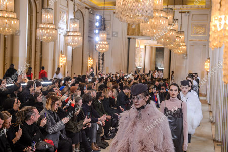 Models present creations from the Fall/ Winter 2018/2019 Women Ready to Wear collection by French designer Guillaume Henry for Nina Ricci fashion house during the Paris Fashion Week, in Paris, France, 02 March 2018. The presentation of the Women's collections runs from 26 February to 06 March 2018.