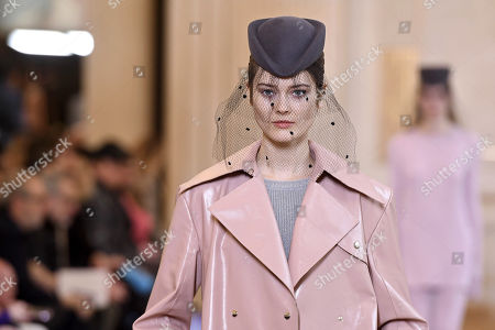A model presents a creation from the Fall/ Winter 2018/2019 Women Ready to Wear collection by French designer Guillaume Henry for Nina Ricci fashion house during the Paris Fashion Week, in Paris, France, 02 March 2018. The presentation of the Women's collections runs from 26 February to 06 March 2018.