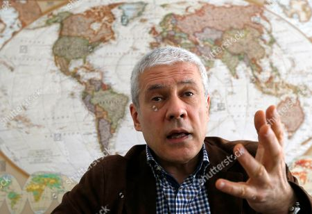 Stock Photo of Serbia's former President Boris Tadic listens to a question during an interview to The Associated Press, in Belgrade, Serbia, . Tadic criticized the European Union for tolerating what he alleges is undemocratic practices by current President Aleksandar Vucic during the upcoming Sunday election
