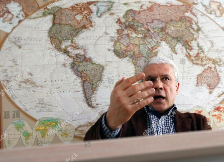 Stock Picture of Serbia's former President Boris Tadic reacts during an interview to The Associated Press, in Belgrade, Serbia, . Tadic criticized the European Union for tolerating what he alleges is undemocratic practices by current President Aleksandar Vucic during the upcoming Sunday election