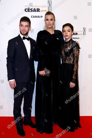 Stock Photo of Rabah Nait Oufella, Julia Ducournau and Garance Marillier