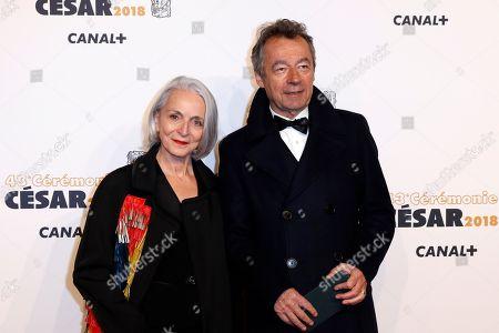 Michel Denisot and Martine Patier