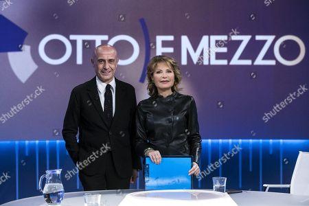 Marco Minniti and Lilli Gruber