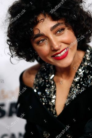Iranian actress Golshifteh Farahani arrives at the 43rd Cesar Film Awards ceremony at Salle Pleyel in Paris, . French film stars including Juliet Binoche are calling for quotas to guarantee that more government film subsidies go to movies directed by women