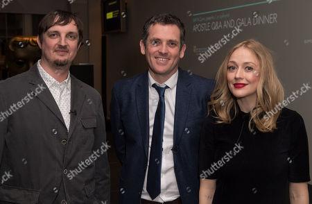 Matt Flannery, Ed Talfan and Elen Rhys