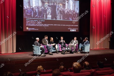 Stock Picture of Jason Solomons, Gareth Evans, Elen Rhys, Michael Sheen, Matt Flannery and Ed Talfan