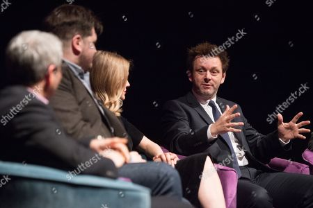 Jason Solomons, Gareth Evans, Elen Rhys and Michael Sheen