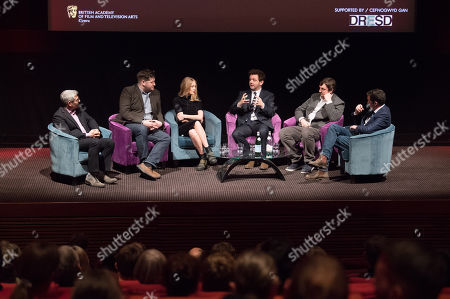 Jason Solomons, Gareth Evans, Elen Rhys, Michael Sheen, Matt Flannery and Ed Talfan