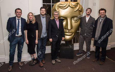 Ed Talfan, Elen Rhys, Gareth Evans, Jason Solomons, Matt Flannery and Michael Sheen