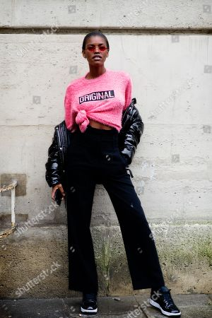 Editorial image of Street Style, Fall Winter 2018, Paris Fashion Week, France - 02 Mar 2018
